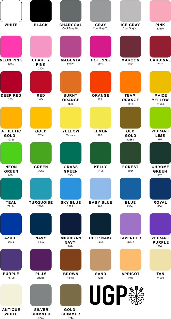 Screenprinting Print Types Colors